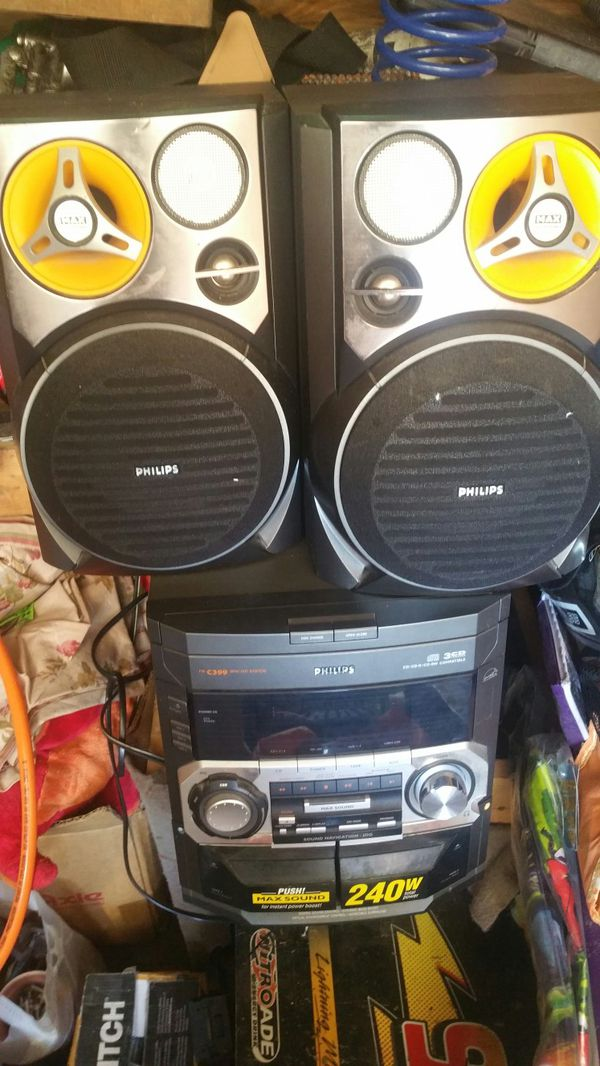 240 watt Philips stereo 3 disc CD changer for Sale in US - OfferUp