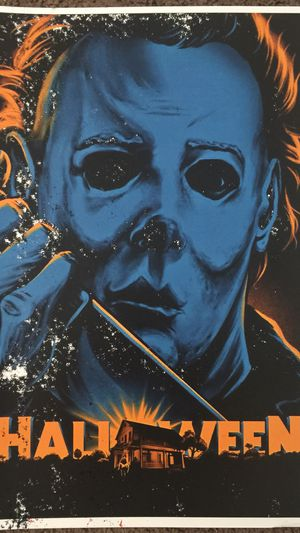 17f38870e175 Michael Myers Halloween retro print and poster in 11x17 inch glass frame  for Sale in La