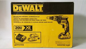 Photo Dewalt 20v xr brushless screwgun kit