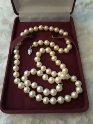 CZECH Glass Pearls 1960's Ivory Color for Sale in Frederick, MD
