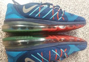 c185e5406 Nike Air Max 2015 Running Training Shoes Sneakers Blue Red Size 7 for Sale  in Queens