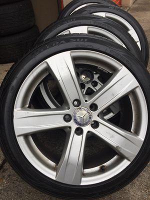Mercedes benz rims set of 4 oem size 18 bolt 5x112 for Sale in Manassas, VA