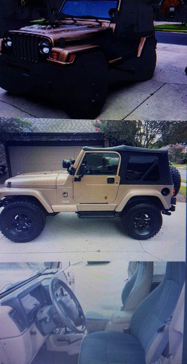 1200 Urgent Sale 1999 Jeep Wrangler Sahara For Sale In Fresno Ca