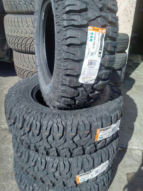 4 new 265 75 16 milestar patagonia mt tires 265 75 r16 inch tire 32 inch tall for sale in moreno. Black Bedroom Furniture Sets. Home Design Ideas