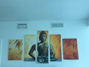 5 Panel Set Buddha Canvas Painting for Sale in Miami, FL