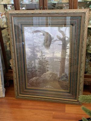 "Shrouded Forest Eagle by Daniel Smith 45 1/2"" X 35"" Framed huge for Sale in Oakland, FL"