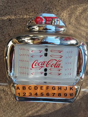 Coca cola coke jukebox cookie jar for Sale in Kissimmee, FL