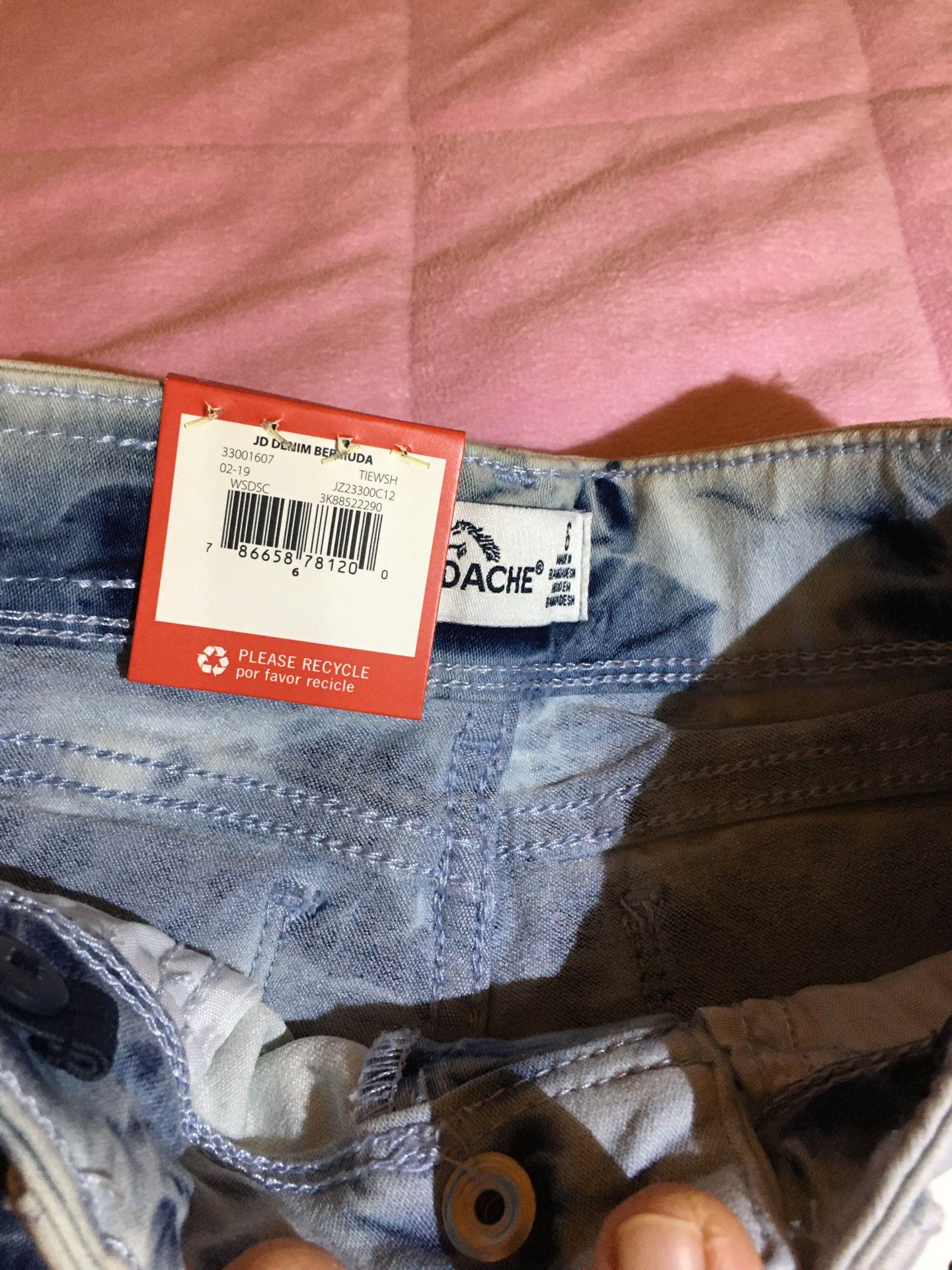 Girls Denim Acid Wash Shorts