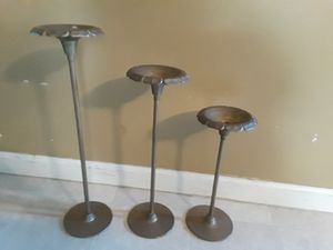set of 3 brass candle holders for Sale in Philadelphia, PA
