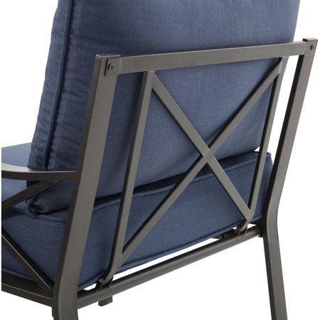 Mainstays Sandhill 7 Piece Outdoor Sofa Sectional Set Seats 5 Blue