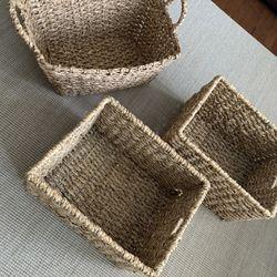 Wicker storage baskets Thumbnail