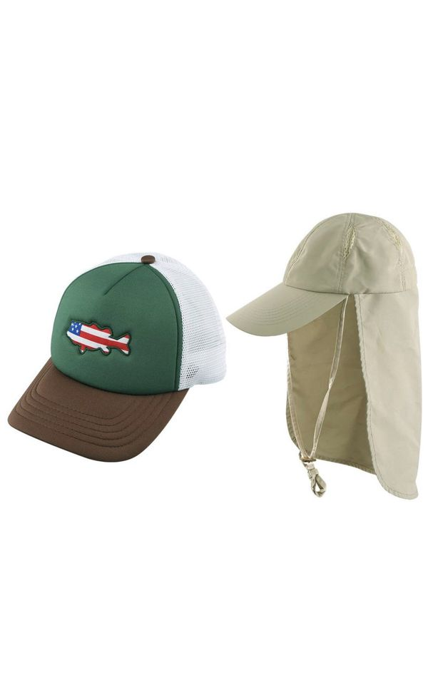 01f8d0b0 AKASO 2 Pack Sun Caps with Neck Flap Baseball Cap, Quick Dry & Breathable  Outdoor Sun Hat, UPF 50+ Fishing Cap for Golf Hunting Backpacking Gardening