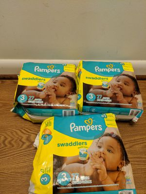 Pampers swaddlers size 3 or 4 for Sale in Rockville, MD