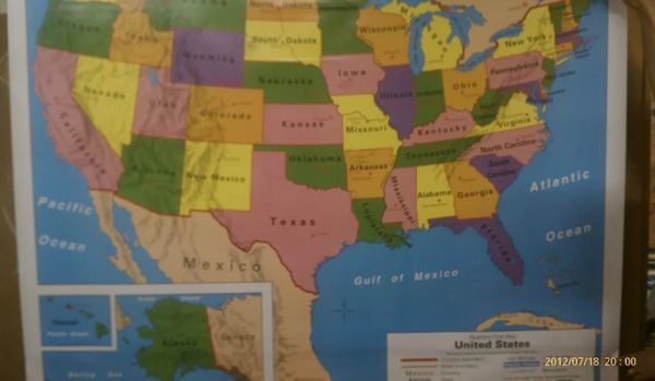 Nystrom World Map.Nystrom 1els981 World State Map For Sale In Kettering Oh Offerup