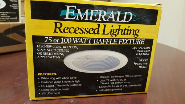 Recessed Lighting By Emerald 75 Or 100 Watt Baffle Fixture For In Addison Il Offerup