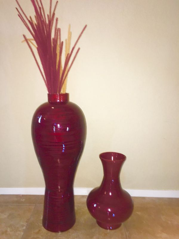 Pier 1 Bamboo 2 Vases The Large Is 28 Tall Small Is 15 Tall