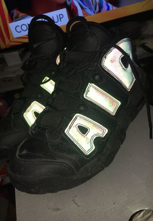 Reflecting Nike Uptempo Size 7 for Sale in Washington, DC