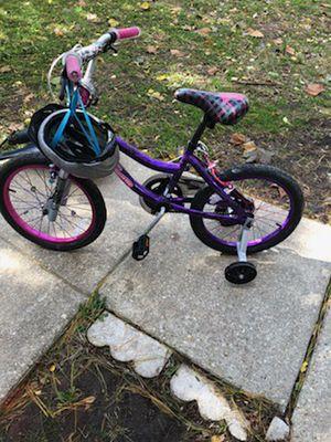 Kids girl bike & helmet for Sale in Upper Marlboro, MD
