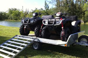 🎅🏾🙀2Foreman ATVs'W/Trailer Honda07 4x4.🎅🏾 for Sale in St. Louis, MO