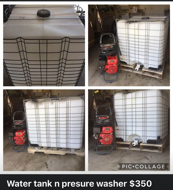 275 Gal Water Tank & A 2700 PSI PRESSURE WASHER For Sale