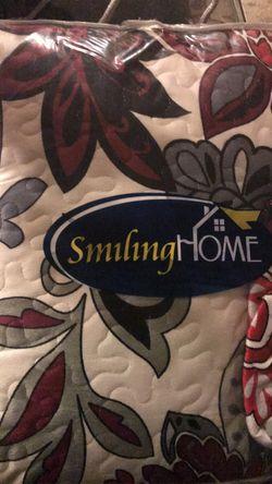 3 pcs printing plush bedspread set Thumbnail