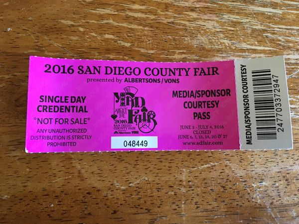 1 Del mar fair ticket for Sale in San Diego, CA - OfferUp