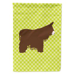 Caroline's Treasures BB7678CHF Poitou Poiteuin Donkey Green Flag Canvas House Size , Large, multicolor Thumbnail