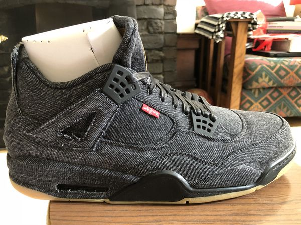 386a9fb81590 Levi x Jordan 4s BLACK COLORWAYBRAND NEW UNWORN SIZE 14 for Sale in ...