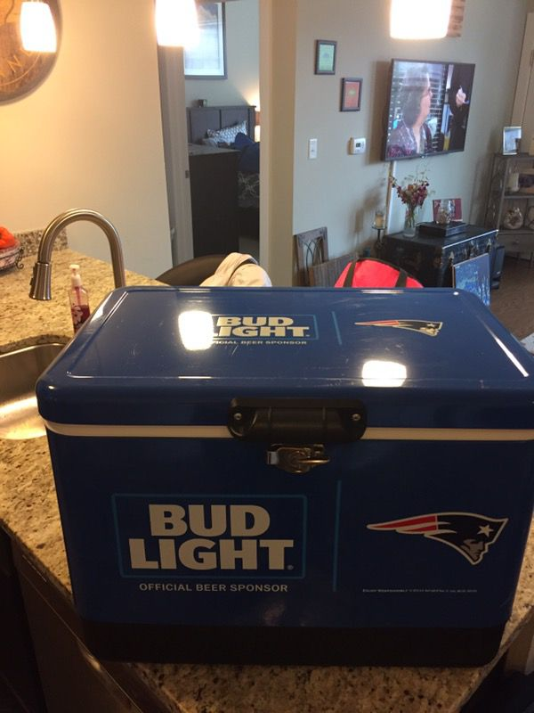 New England Patriots / Bud Light Stainless Steel Cooler for Sale in  Westborough, MA - OfferUp