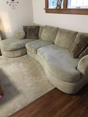 Photo 10ft sectional couch
