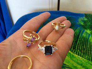 Assorted pretty rings 💍💍💍💍 Welcome to Eva's Offer Up / Vermeil Gold rings size $5 🌿🌸🌿 for Sale in Lincolnia, VA