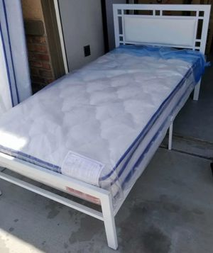 Brand New Twin Size Platform Bed + Mattress for Sale in Silver Spring, MD
