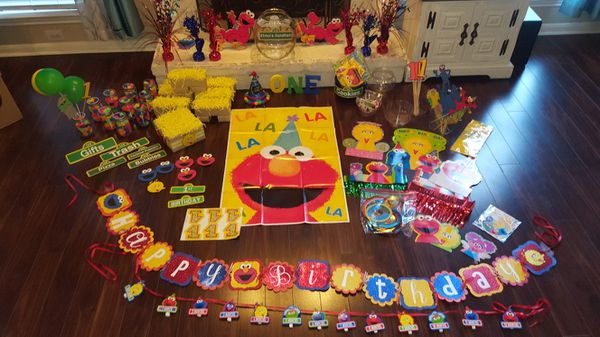 Sesame Street 1st Birthday Party Decorations