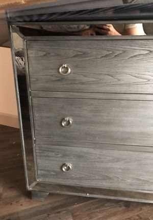 Madison park 3 door mirrored chest for Sale in Salt Lake City, UT