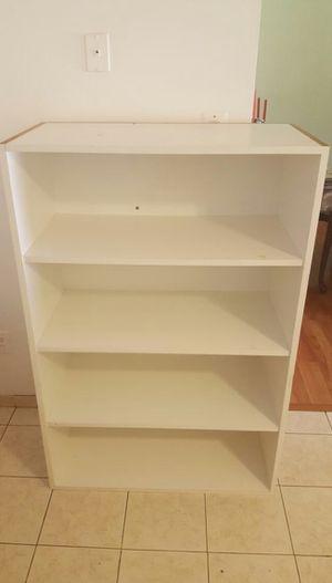 Deep white bookcase for Sale in Herndon, VA