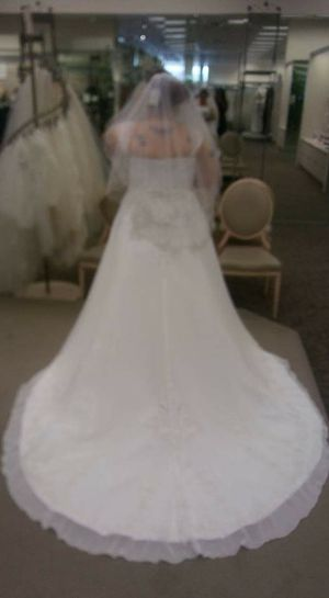c4da6b59bc4e3 David bridal size 20 new wedding dress for Sale in Oklahoma City