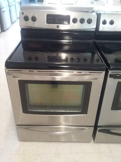 Kenmore elctric stove stainless steel used good condition 90days warranty Thumbnail