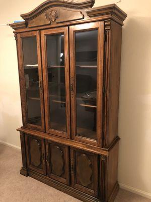 Vintage antique showcase cabinet for Sale in Fairfax, VA