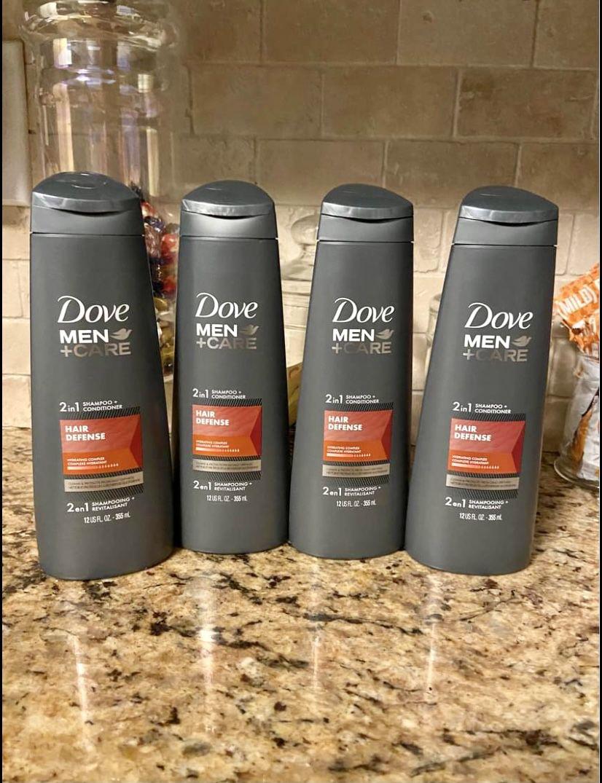 Set of 4 dove men 2n1 shampoo conditioner set•HAIR DEFENSE•12oz•all for $12