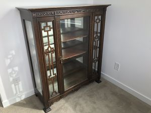 Vintage Edwardian Cherry Wood Showcase (late 1800s) for Sale in Seattle, WA