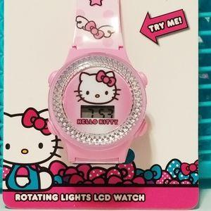 Photo NWT Hello Kitty Pink Rotating Lights LCD