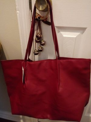Saks 5th Avenue maroon tote nwt for Sale in Madison Heights, VA