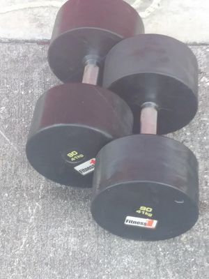 90lb Fitness One Rubber Dumbbells Gym Equipment! for Sale in Orlando, FL