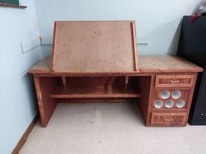 Solid wood drafting table for Sale in Orlando, FL