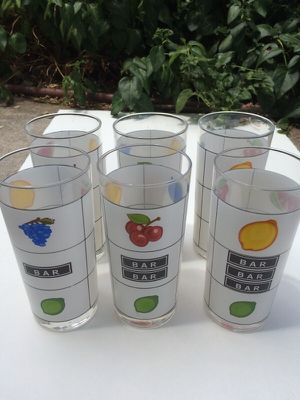 Set of six slot machine glasses for Sale in West Jordan, UT