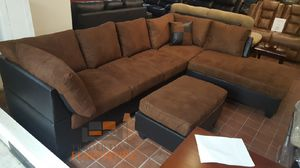 Brand new microfiber sectional sofa with ottoman (final price) for Sale in Silver Spring, MD