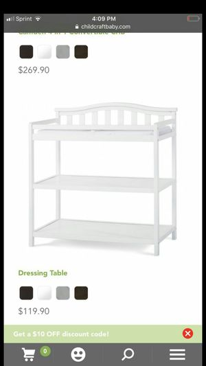 Brand new dressing changing table for Sale in Rockville, MD