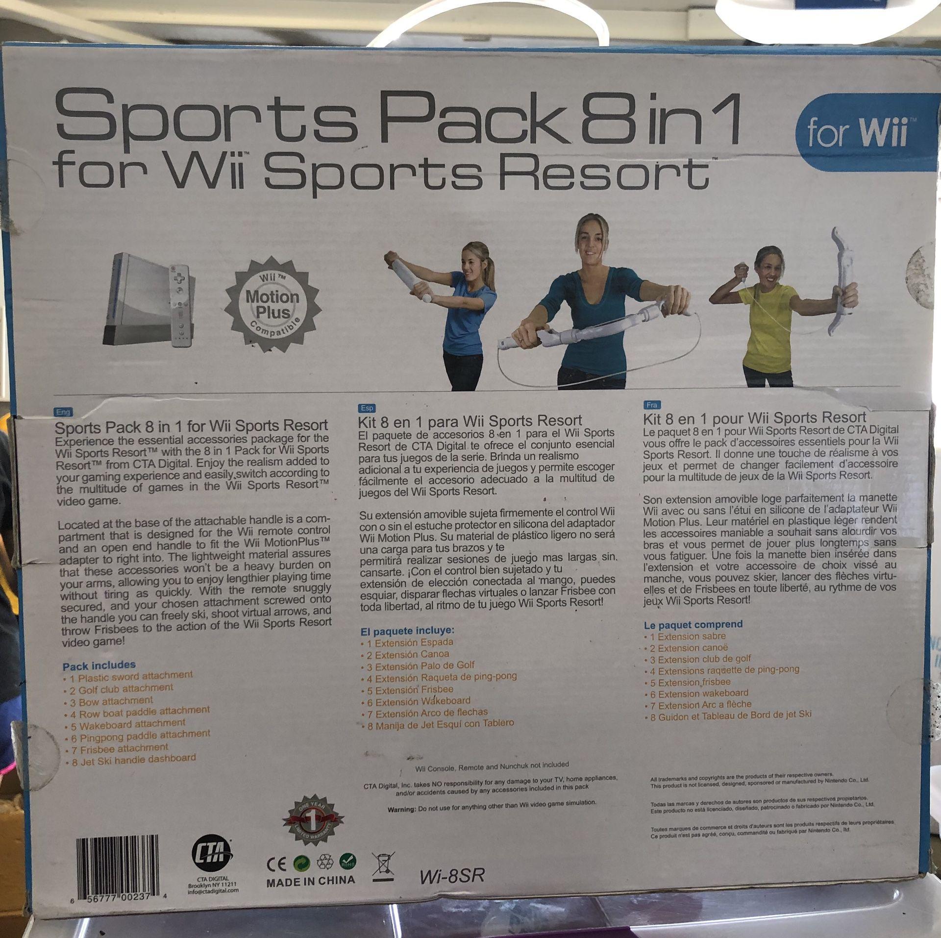 Sports pack 8 in 1 wii sport resort