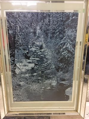 Large framed winter scene for Sale in Chicago, IL