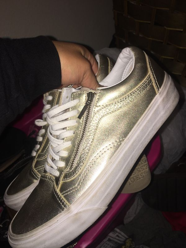 692affd021ae32 Gold VANS size 9 women (Clothing   Shoes) in Irving